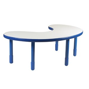 "Kidney Table - Royal Blue - 22"" Legs"