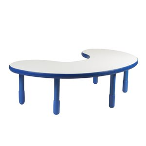 "Kidney Table - Royal Blue - 18"" Legs"