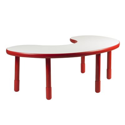 "Kidney Table - Red - 22"" Legs"