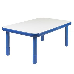 "Rectangular Table - Blue - 20"" Legs"