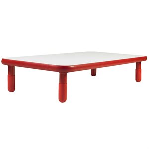 Table rectangulaire - Rouge - 12""