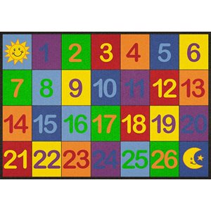 Rectangular Carpet - Number Grid 1 to 26