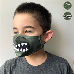 2 washable kids masks with 1 filter