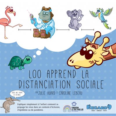 Livre Loo apprend la distanciation sociale