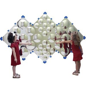 Mirror Diamond Bubble Wall